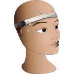 Stirnband mit Schweißkanal mit OL-Posten