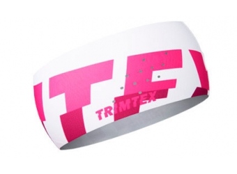 Trimtex Bi-elastic Air Stirnband weiß/pink