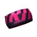 Trimtex Bi-elastic Stirnband schwarz / pink