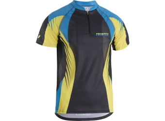 Trimtex Extreme OL-Shirt Dunkelgrau / Azurblau / Lime