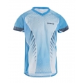 Trimtex Basic Mesh OL-Shirt Azure Blue / White