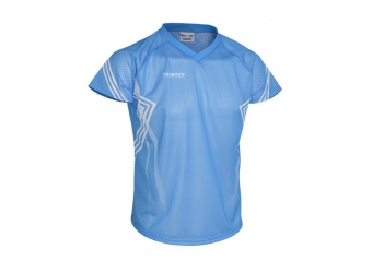Trimtex Basic Mesh OL-Shirt blau/weiß