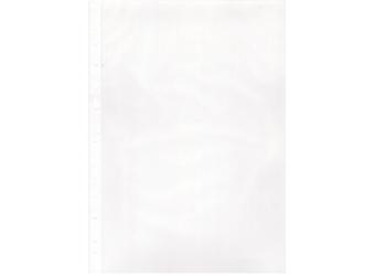 Karten-Klarsichtschutzhülle A4, mit weißem Rand, 100 Stk